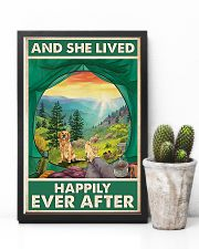 Camping and Golden Retriever Dog Lovers 11x17 Poster lifestyle-poster-8
