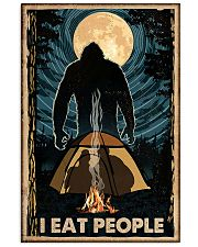 Bigfoot I Eat People Poster Camping Lovers 11x17 Poster front