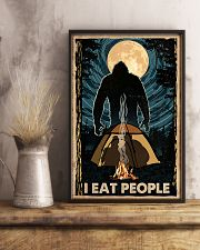 Bigfoot I Eat People Poster Camping Lovers 11x17 Poster lifestyle-poster-3