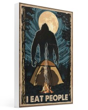 Bigfoot I Eat People Poster Camping Lovers 16x24 Gallery Wrapped Canvas Prints thumbnail
