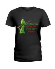 Didnt Care Ladies T-Shirt thumbnail