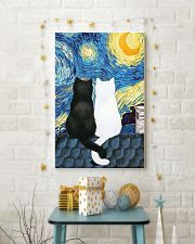 Cat Love Starry Night 11x17 Poster lifestyle-holiday-poster-3
