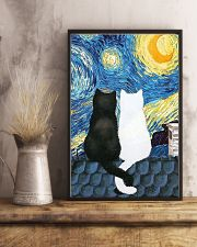 Cat Love Starry Night 11x17 Poster lifestyle-poster-3