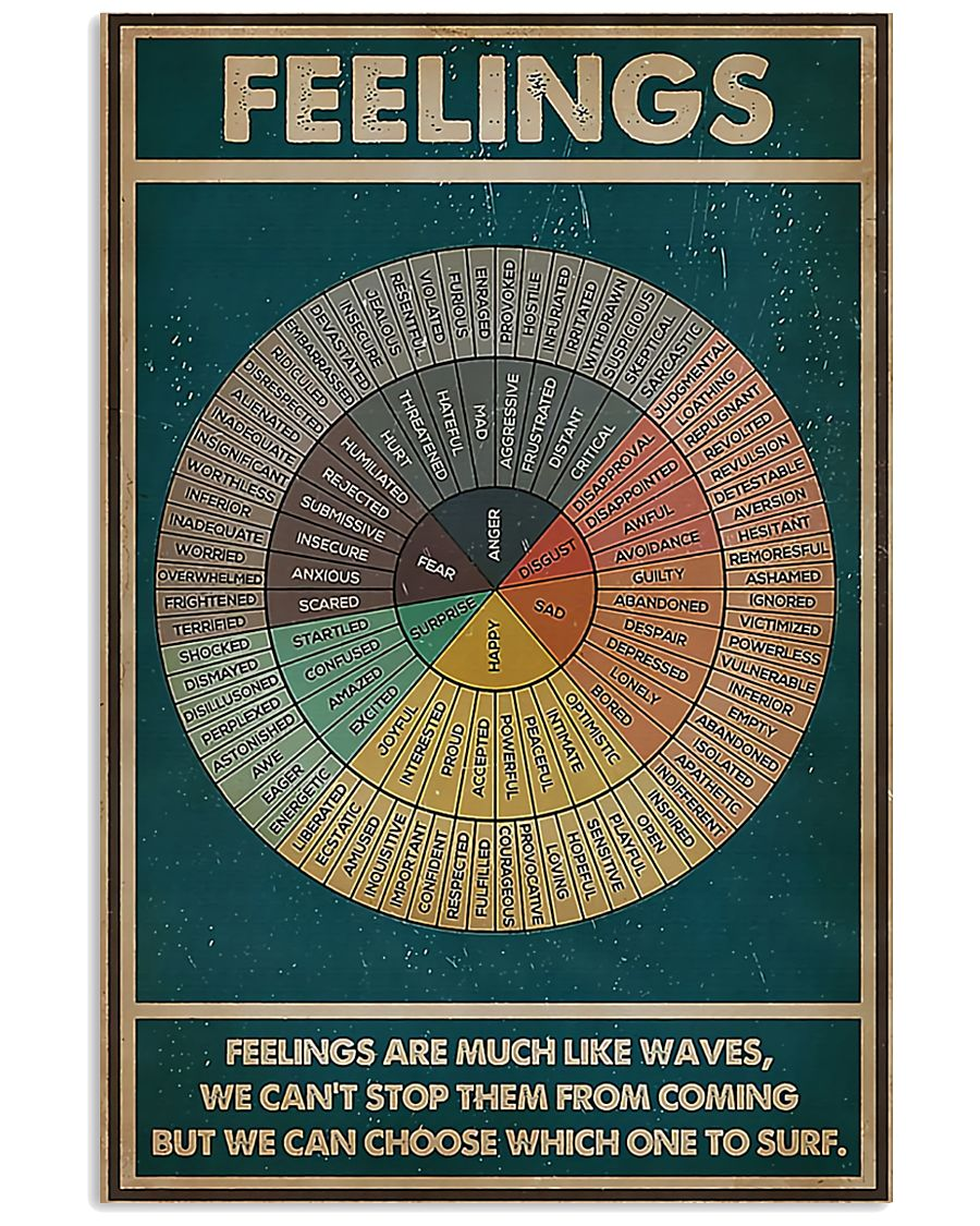 Feelings Are Much Like Waves 11x17 Poster
