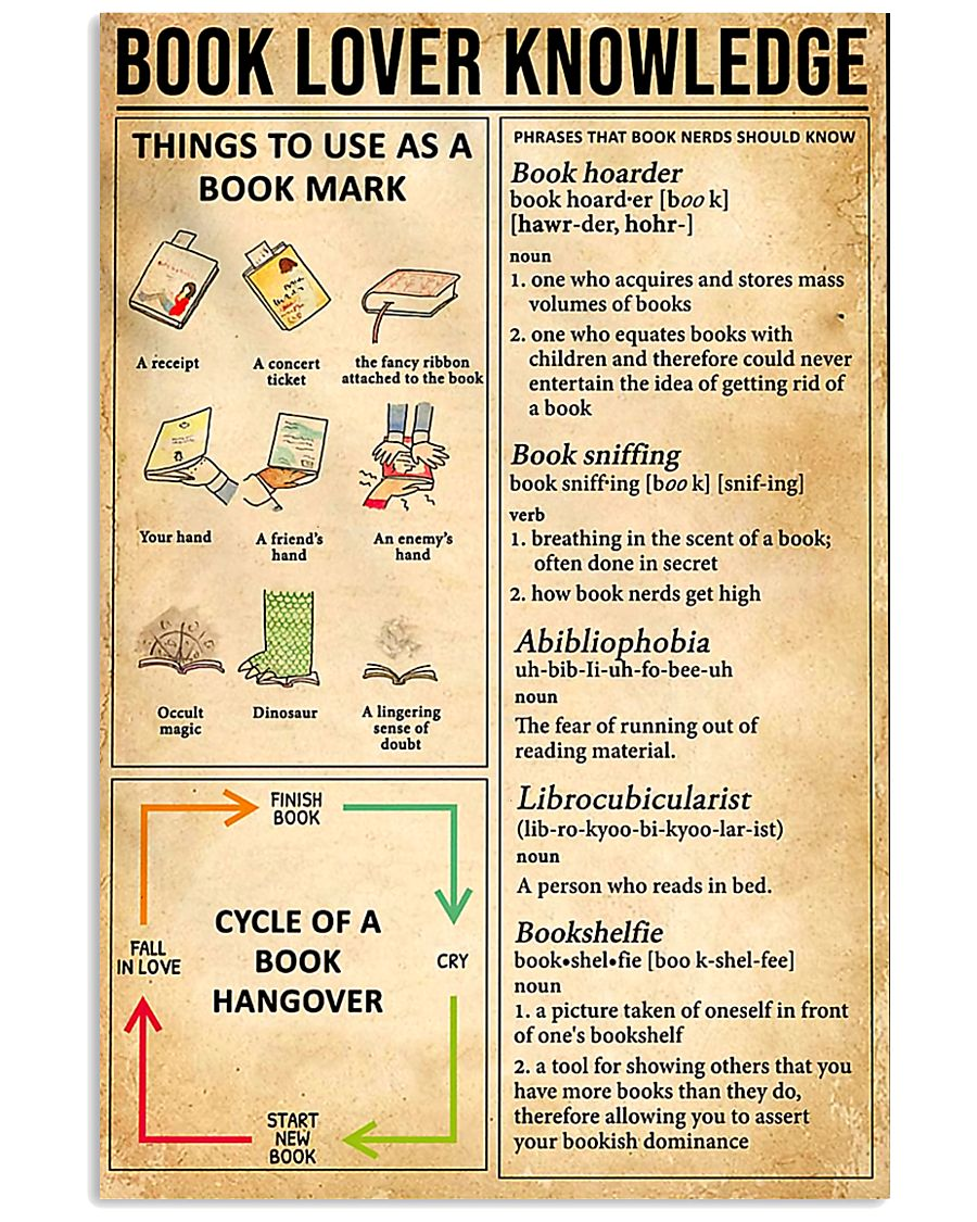 Book Lover Knowledge 11x17 Poster