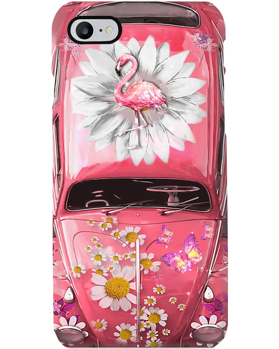 Flamingo Vw Bug Phone Case