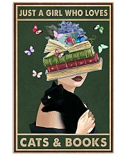 Just A Girl Who Love Cats Books 11x17 Poster front