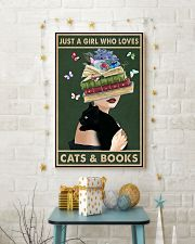 Just A Girl Who Love Cats Books 11x17 Poster lifestyle-holiday-poster-3