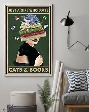Just A Girl Who Love Cats Books 11x17 Poster lifestyle-poster-1