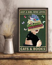 Just A Girl Who Love Cats Books 11x17 Poster lifestyle-poster-3