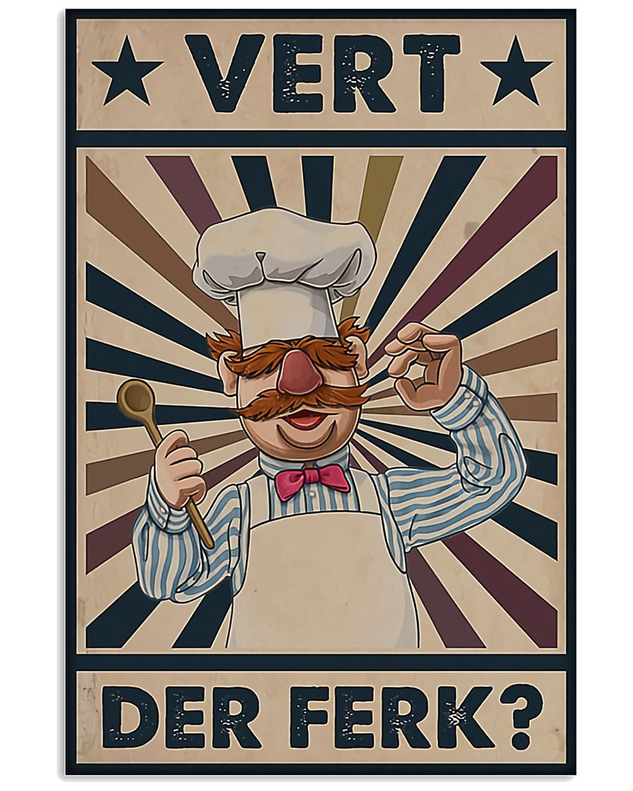 Awesome Chef Vert Der Ferk Vintage 11x17 Poster