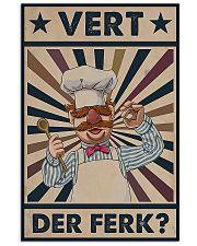 Awesome Chef Vert Der Ferk Vintage 11x17 Poster front