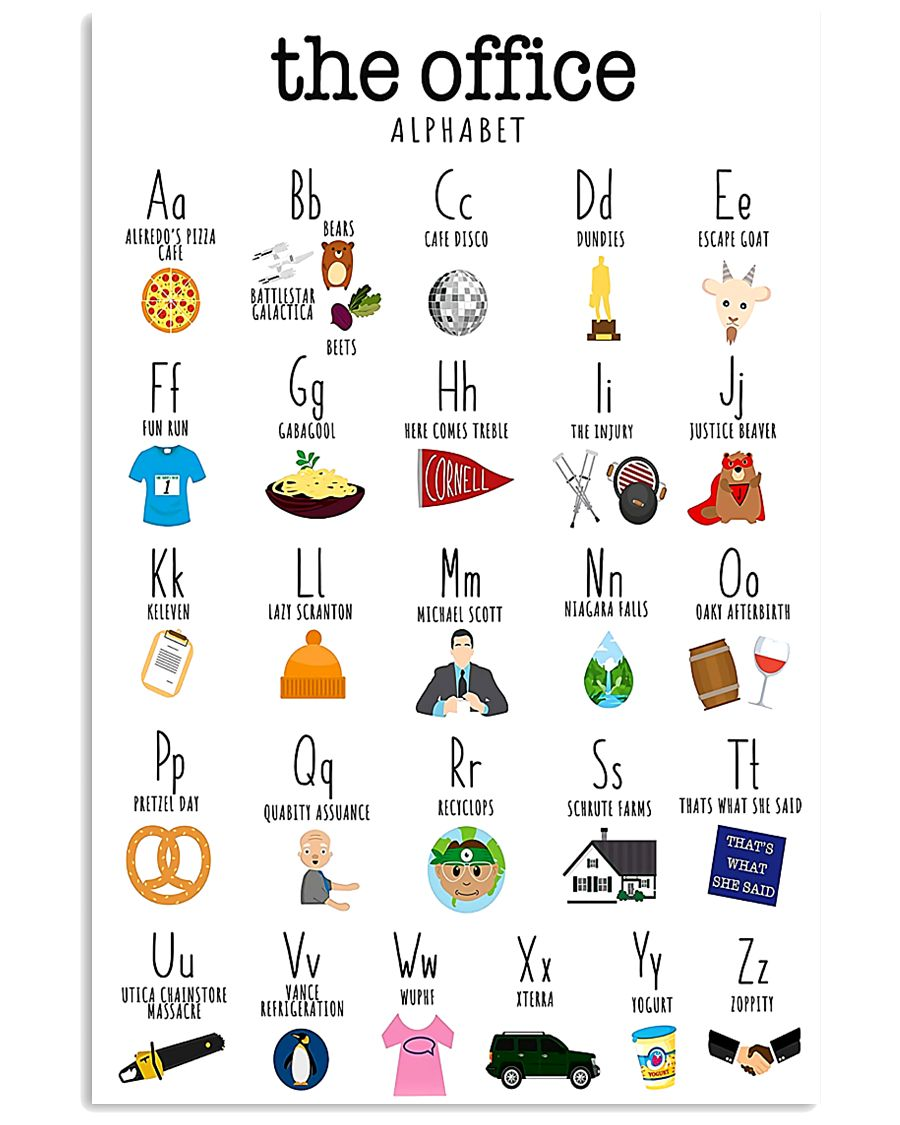 Alphabetical Office 16x24 Poster