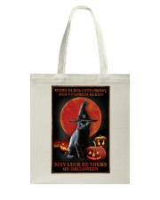 Witch Cat Halloween Tote Bag thumbnail