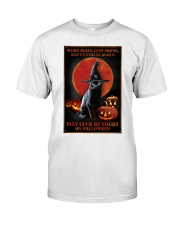 Witch Cat Halloween Classic T-Shirt thumbnail