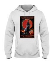 Witch Cat Halloween Hooded Sweatshirt thumbnail