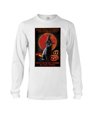 Witch Cat Halloween Long Sleeve Tee thumbnail