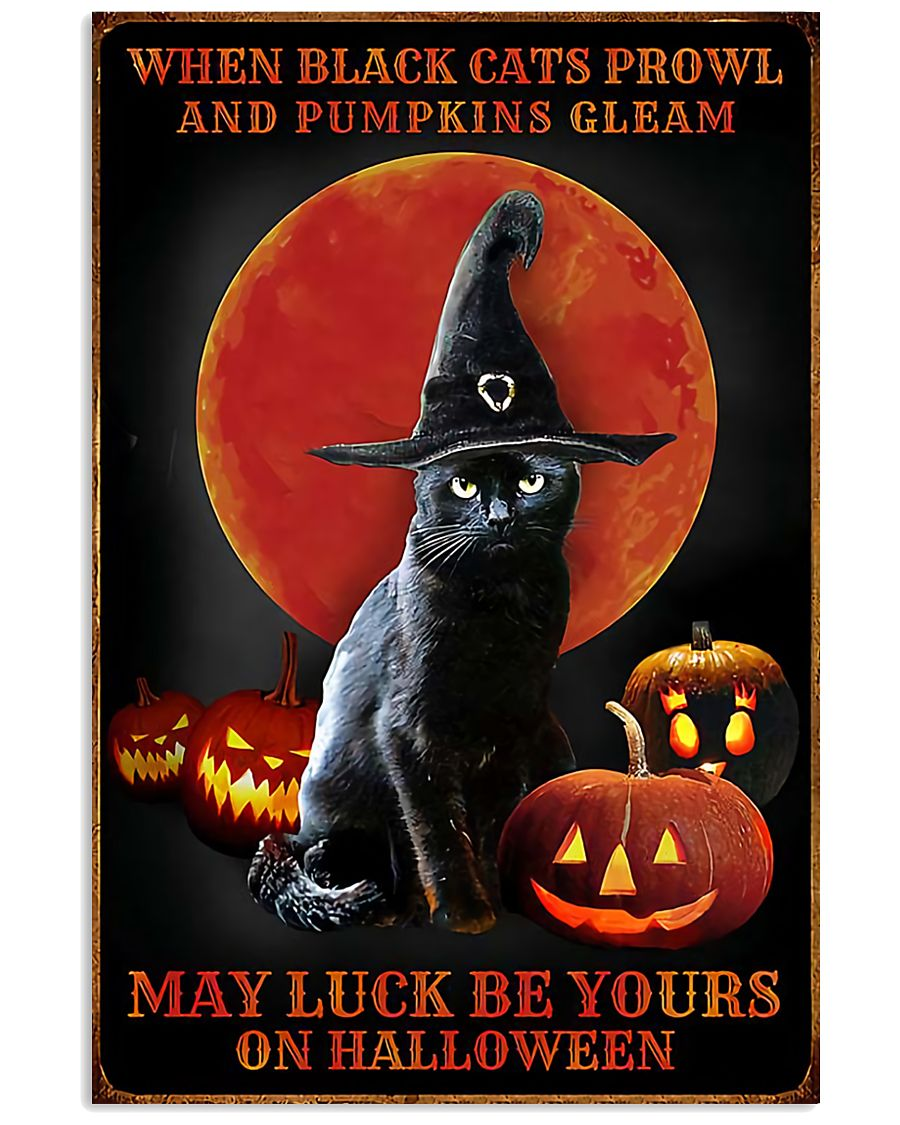 Witch Cat Halloween 11x17 Poster