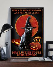 Witch Cat Halloween 11x17 Poster lifestyle-poster-2