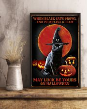 Witch Cat Halloween 11x17 Poster lifestyle-poster-3