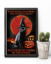 Witch Cat Halloween 11x17 Poster lifestyle-poster-8