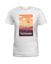 Tatooine Retro Travel Ladies T-Shirt thumbnail