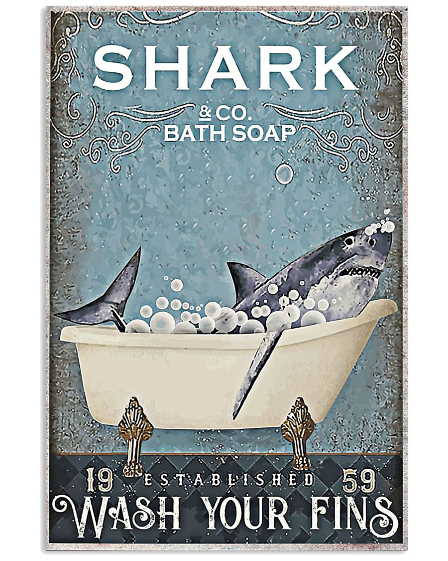 Shark And Co Bath Soap 11x17 Poster