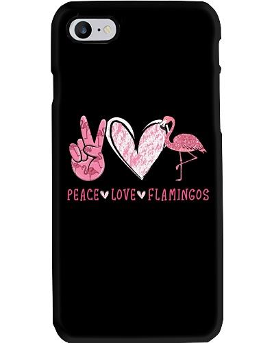 Peace Love Flamingos