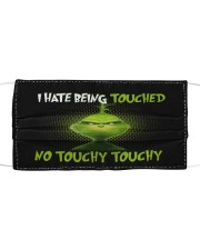 No Touchy Cloth face mask front