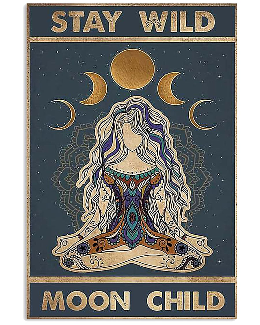 Yoga Girl Stay Wild Moon Child 11x17 Poster