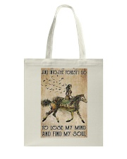 Girl and Into Forest I Go Tote Bag thumbnail