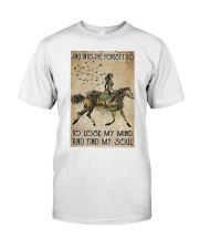 Girl and Into Forest I Go Classic T-Shirt thumbnail
