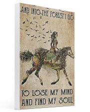 Girl and Into Forest I Go 16x24 Gallery Wrapped Canvas Prints thumbnail