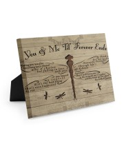 You And Me Til Forever Ends 10x8 Easel-Back Gallery Wrapped Canvas thumbnail