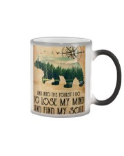 Into The Forest Poster Color Changing Mug tile