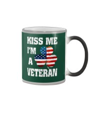 Kiss Me I'm A Veteran Color Changing Mug color-changing-right