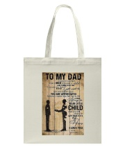 To My Dad I'll Always Be Your Little Boy Tote Bag thumbnail