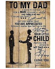 To My Dad I'll Always Be Your Little Boy 11x17 Poster front