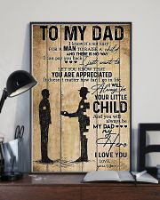 To My Dad I'll Always Be Your Little Boy 11x17 Poster lifestyle-poster-2