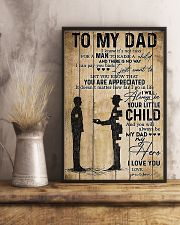 To My Dad I'll Always Be Your Little Boy 11x17 Poster lifestyle-poster-3
