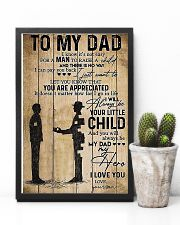To My Dad I'll Always Be Your Little Boy 11x17 Poster lifestyle-poster-8