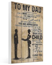 To My Dad I'll Always Be Your Little Boy 16x24 Gallery Wrapped Canvas Prints thumbnail