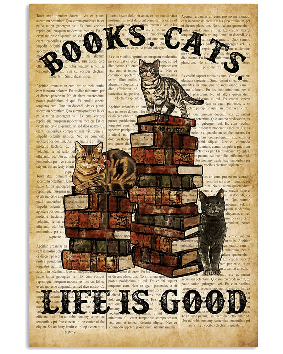 Books Cats 16x24 Poster