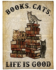 "Books Cats Large Fleece Blanket - 60"" x 80"" thumbnail"