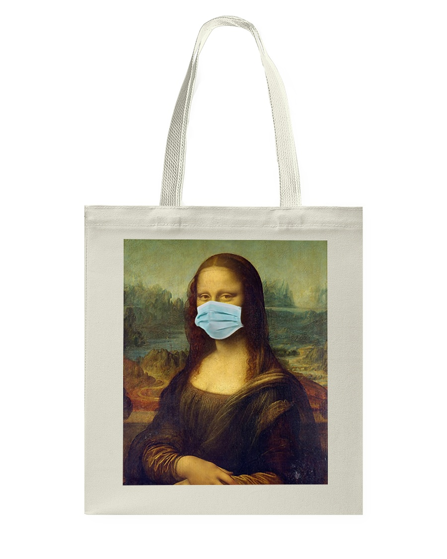 Masked Mona Tote Bag