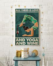 Yoga And Wine 11x17 Poster lifestyle-holiday-poster-3