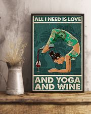 Yoga And Wine 11x17 Poster lifestyle-poster-3