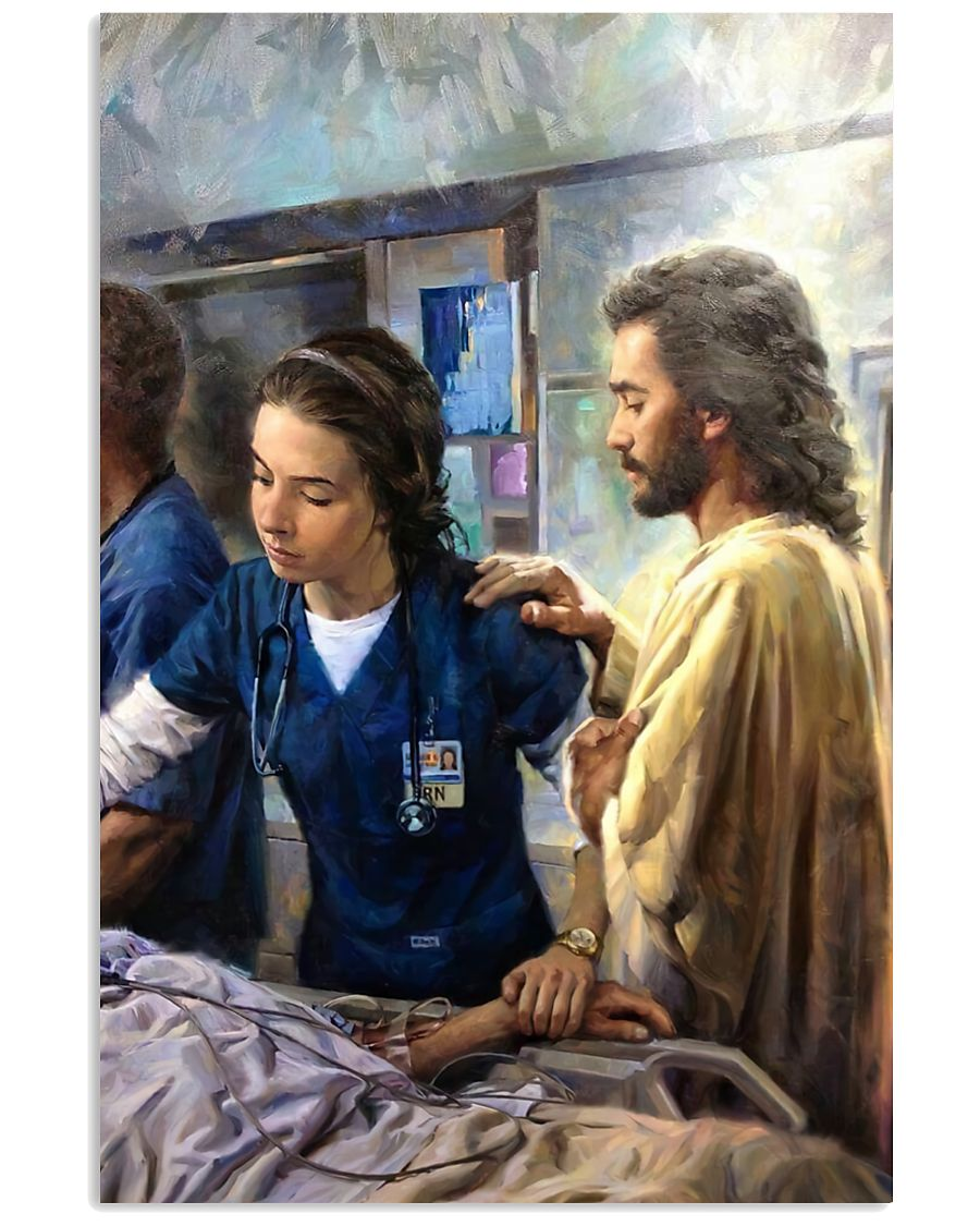 Prayer and Nurse 16x24 Poster