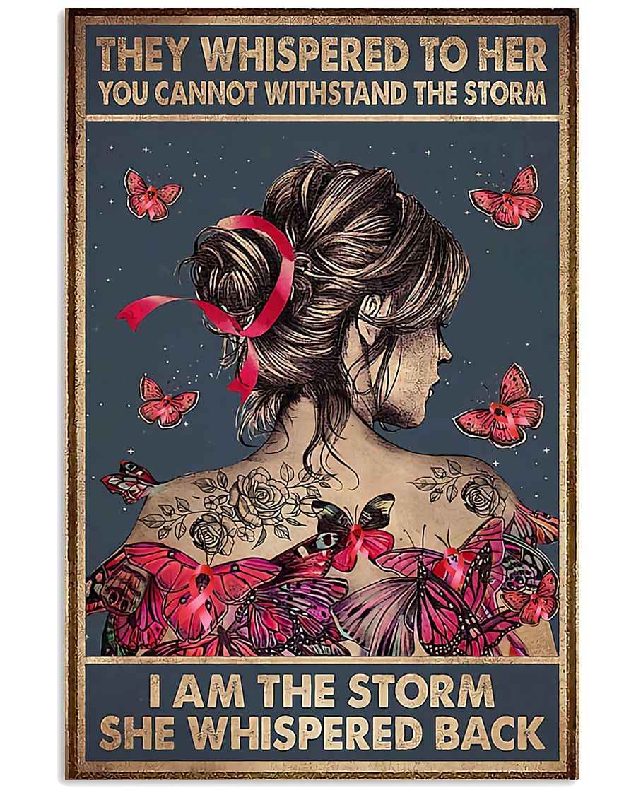 I Am The Storm Breast Cancer 11x17 Poster