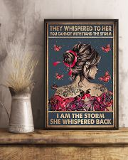 I Am The Storm Breast Cancer 11x17 Poster lifestyle-poster-3